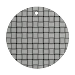 Gray Weave Round Ornament