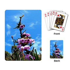 Pink Flower Playing Cards Single Design